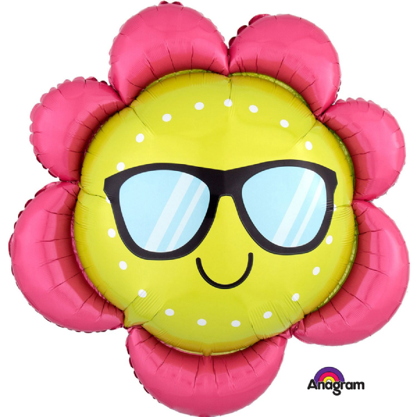 Fun in the Sun Flower SuperShape Foil Balloons